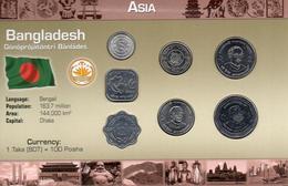 BANGLADESH VARIOS AÑOS, 7 MONEDAS, BU, 2 ESCANER - Bangladesh
