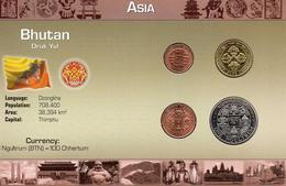 BUTAN 1979, 4 MONEDAS, BU, 2 ESCANER - Bhutan