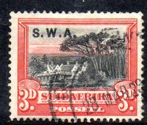 R474 - SOUTH WEST AFRICA  1927 ,  Yvert N. 96  Usato - Africa Del Sud-Ovest (1923-1990)