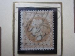 VEND BEAU TIMBRE DE FRANCE N° 28B , BISTRE !!!! (a) - 1863-1870 Napoléon III Lauré