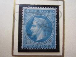 VEND BEAU TIMBRE DE FRANCE N° 29B , BLEU FONCE !!!! - 1863-1870 Napoléon III Lauré