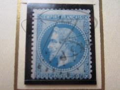 VEND BEAU TIMBRE DE FRANCE N° 29B , BLEU !!!! - 1863-1870 Napoléon III Lauré