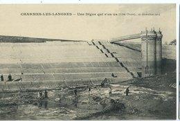 """CHARMES LES LANGRES  Effondrement 1909 """"une Digue Qui S'en Va"""" 12/12/09, Rare - Autres Communes"""