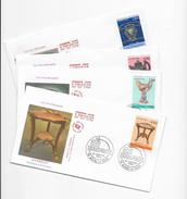 """Enveloppes  1er Jour FDC .1994  4 Enveloppes """"Les Arts Décoratifs"""" Bourg-la-reine - 1990-1999"""