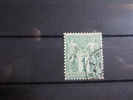VEND BEAU TIMBRE DE FRANCE N° 61 , VERT PALE !!!! - 1876-1878 Sage (Type I)