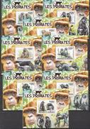 M113 2011 BURUNDI FAUNA WILD ANIMALS MONKEYS LES PRIMATES 8LUX BL MNH