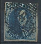 N°4, 20c Bleu Margé P161 FARCIENNES