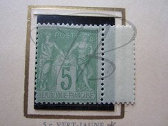 VEND BEAU TIMBRE DE FRANCE N° 102 , NEUF AVEC CHARNIERE !!!! - 1898-1900 Sage (Type III)