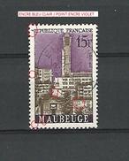 * 1958  N° 1153  MAUBEUGE  8. 7 . 1958   OBLITÉRÉ TRACE DOS CHARNIÈRE ENLEVÉE T.B - Errors & Oddities