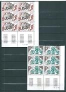 Monaco Timbres De 1984  N°1435/36 Bloc De 6   Coins Datés Neufs ** - Neufs