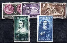 R539 - SUD AFRICA 1952 ,   Yvert Serie N. 186/190    *** - Sud Africa (...-1961)