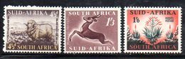 R542 - SUD AFRICA 1953 ,   Yvert Serie N. 196/198    *** - Sud Africa (...-1961)