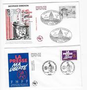 """Enveloppes  1er Jour FDC .1994  2 Enveloppes """"Thèmes Différents"""" - 1990-1999"""