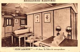 MESSAGERIES MARITIMES - JEAN LABORDE - 1ERE CLASSE LE SALON DE CORRESPONDANCE - Dampfer