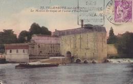 Villeneuve Sur Lot Le Moulin De Gajac Et Usine Electricité Couleur Lacoste - Villeneuve Sur Lot