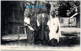 31 TOULOUSE - Exposition De 1908 - Village Noir - Famille Sénégalaise  (Recto/Verso) - Toulouse