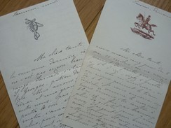 Henri DE SAINT HILLIER (1866-1937) CAVALERIE De SAUMUR - Saint Cyr. - AUTOGRAPHE - Autographes