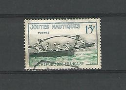 1958  N° 1162  JOUTES NAUTIQUES  OBLITÉRÉ  TRACE CHARNIÈRE ENLEVÉE - France