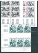 Monaco Timbres De 1984  N°1451 A 1453   Bloc De 6   Coins Datés Neufs ** - Neufs