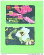 ALBANIA - Chip Phonecard/Flowers 50 Units*