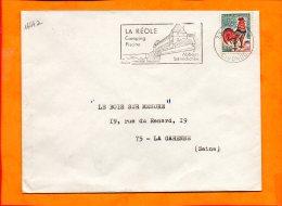 GIRONDE, La Réole, Flamme SCOTEM N° 1644a, Abbaye Benedictine - Marcophilie (Lettres)