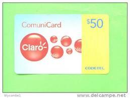 DOMINICAN REPUBLIC - Remote Phonecard/Claro RD$50