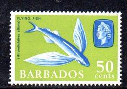 R611 - BARBADOS 1965 ,  Yvert  N. 254  ***  MNH  Pesce Volante Flyng Fish - Barbados (...-1966)