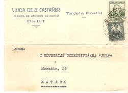 CARTA COMERCIAL 1938 OLOT - 1931-Today: 2nd Rep - ... Juan Carlos I