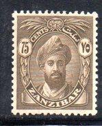 R673 - ZANZIBAR 1926, Gibbons  N. 309  *  Harub - Zanzibar (...-1963)