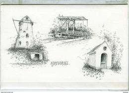 RIJKEVORSEL (Antw.) - Molen/moulin - Mooie WENSKAART Inclusief Envelop Van Molenromp, Kapel En Brug - Rijkevorsel