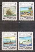 Falkland Islands 1984 250th Anniversary Of Lloyd's List Newspaper, Ship, Joint Issue (4v) MNH (M-336)