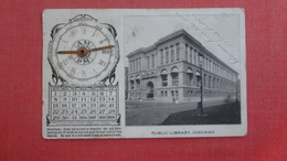 Movable Metal Hands On Clock-- Calendar  Public Library - Illinois > Chicago -   Ref 2524 - Móviles (animadas)