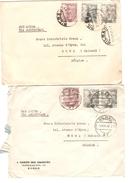 Espana-Spain-Espagne 3 Covers From Bilbao 1946-47-48 + Cinderella To Belgium PR4278 - 1931-Aujourd'hui: II. République - ....Juan Carlos I