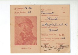 Kl 3359 Les Veterans Du Roi Albert I Membre Effctif - De Veteranen Van Koning Albert I Werkend Lid - Wervil 1954 - Documents