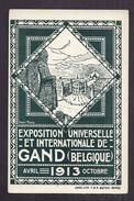 CPA BELGIQUE - GAND - EXPO UNIVERSELLE ET INTERNATIONALE Avril 1913 Octobre Contacter LIBOUTON Chemin De Fer Voir Verso - Sonstige