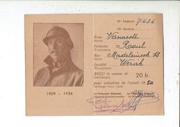 Kl 3356 Les Veterans Du Roi Albert I Membre Effctif - De Veteranen Van Koning Albert I Werkend Lid Wervik 1950 - Documenti
