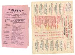 """2 Papiers Publicitaires """" ELVEN """" Plats Cuisinés, éleveurs Vendéens, Dont Listes Des Dépositaires & Plats, Roche Sur Yon - Publicités"""