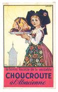 Bonne Recette De La Véritable Choucroute à L'Alsacienne, Signé Hansi - Fincker Frères, Colmar - Publicités