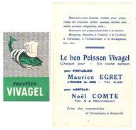 Dépliant 2 Volets & Petit Livret : Poisson Vivagel / Recettes ( Morteau, Pontarlier ) - Publicités