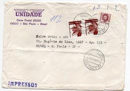 Brésil--1985--HADDOCK LOBO  Pour SAO PAULO (Brésil) Timbres Sur Lettre-cachet Rond-Unidade-Impressos - Brazilië