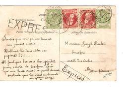 TP 56(2)-74(2) S/CP Exprès C.Charleroy (Sud) 29/4/1906 V.Mont Sur Marchienne PR4281 - 1905 Grosse Barbe