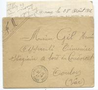 15584 - POSTE NAVALE  - LETTRE  D' ORAN - ALGÉRIE - Vers Le  CUIRASSÉ CONDORCET ( 29-08-1942) Avec Courrier - Seepost