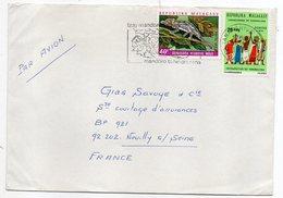 Madagascar--1976--lettre De TANANARIVE Pour NEUILLY /SEINE (France)-- Timbres Sur Lettre--cachet Mécanique - Madagascar (1960-...)