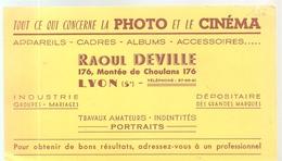 Buvard Tout Ce Qui Concerne La Photo Et Le Cinéma Raoul Deville 176, Montée De Choulans à Lyon 5éme Des Années 1960 - Cinéma & Théatre