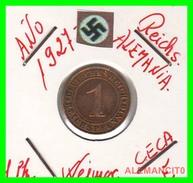 GERMANY  -   MONEDA  DE  1- REICHSPFENNIG  AÑO 1927 E   Bronze - 1 Rentenpfennig & 1 Reichspfennig