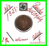 GERMANY  -   MONEDA  DE  1- REICHSPFENNIG  AÑO 1927 F   Bronze - 1 Rentenpfennig & 1 Reichspfennig