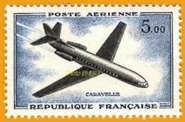 "France**LUXE 1960 Pa 40, Les Prototypes (en Nouveaux Francs), Vf 5,oo F. Sud-Aviation ""Caravelle"" (type N° 36) - 1960-.... Ungebraucht"