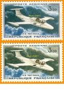 France**LUXE 1960 Pa 39 Et 39a Les 2 Teintes Différentes, 2v,les Prototypes (en Nouveaux Francs), 3,oo F. Morane-Saulnie - 1960-.... Ungebraucht