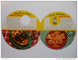 T251 / Publicité Ancienne MERE PICON - 2 Recettes Oeufs Au Four + Croque-Monsieur Avec Crème De Gruyère Picon - Alimentaire
