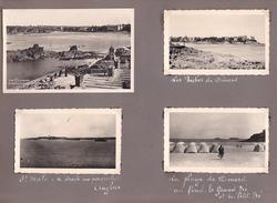 GW -page Recto-verso Album Ete 1949 -voyage En Bretagne - Saint Malo Dinard Plage - St Briac -Saint Brieuc Hotel Centre